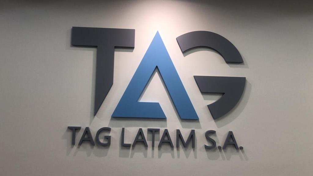 TAG office sign